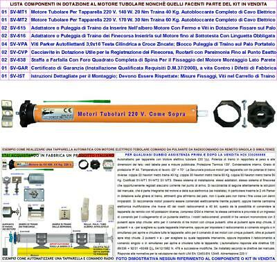 Motori Tapparella Elettrica 220 V 20/30 Nm Serranda Avvolgibile Da 40 Kg E 60 Kg 2
