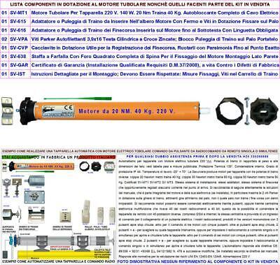 Tapparella Automatica Serranda Avvolgibile Da 40 Kg Per Motore Elettrico 220 V 2