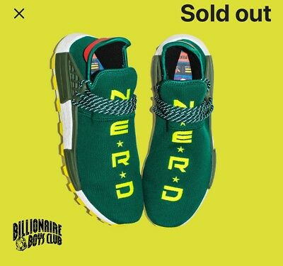 finest selection a9677 eaea9 DS ADIDAS NMD PW HU NERD N.E.R.D Green BBC NYC Exclusive Size 13 Human Race