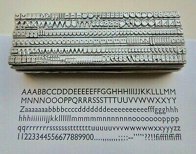 14 point GILL SANS MEDIUM 3A Letterpress Metal Printing Type 2