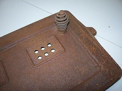 ANTIQUE VINTAGE GAS Boiler Cast Iron Burner GRATE FireBox Cover ...