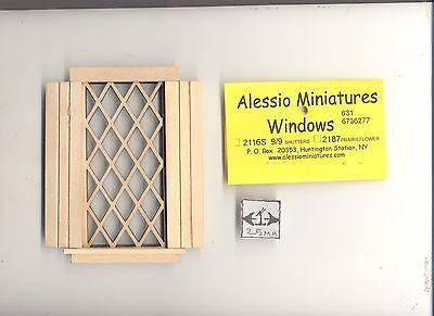 Window Tudor Diamond Double 2126 dollhouse miniature 1:12 scale USA made