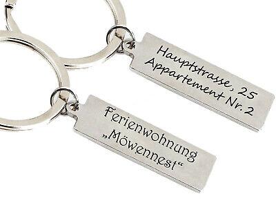 Praktischer ID Schlüsselanhänger mit Gravur nach Wunsch Edelstahl 3 in 1 mit Box