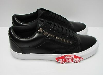 Vans Old Skool Zip Men's Skate Shoes Size 7.5 Patent Crackle Black VN0A3493M1i