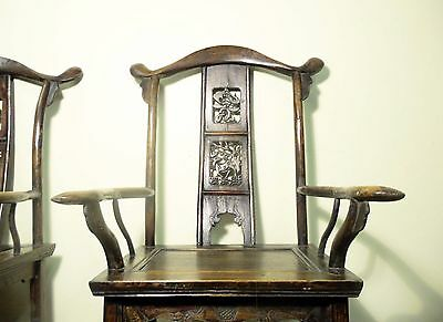 Antique Chinese High Back Arm Chairs (5802) (Pair), Circa 1800-1849 6
