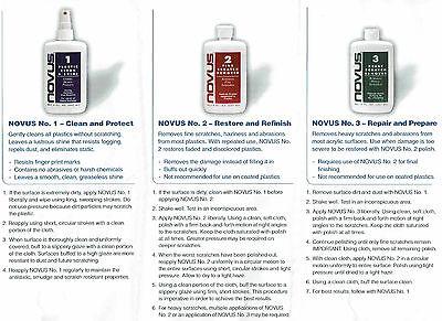Novus 1,2,3 Plastic Polish System, 3x 2oz, Kunststoff Politur 4
