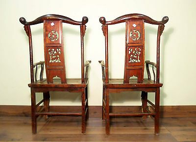 Antique Chinese High Back Arm Chairs (5637) (Pair), Circa 1800-1849 11