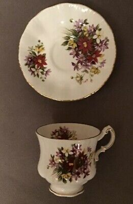 Excellent Paragon Bouquet Flower Festival Cup And Saucer 1# Quality England 2
