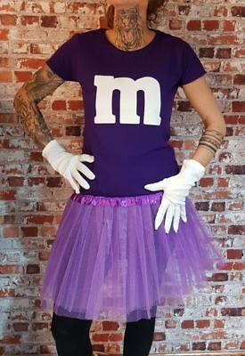 M&M Kostüm MM Fans Tüllrock Damen T-Shirt Tutu Tütü Fasching Gruppenkostüm 3