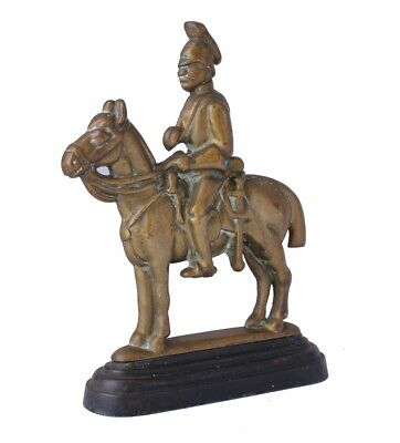 Vintage Soldier & Horse Door Stop Porter. Antique Brass Doorstop Figure Ornament 10