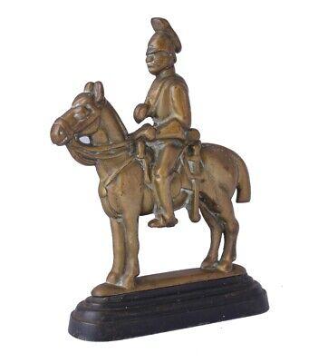 Vintage Soldier & Horse Door Stop Porter. Antique Brass Doorstop Figure Ornament 2