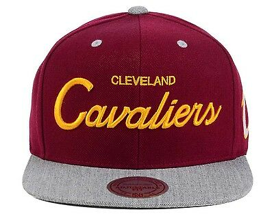 the best attitude ce84f d4fe5 ... purchase 1 of 4free shipping cleveland cavaliers mitchell ness heather  special script snapback hat cap nba
