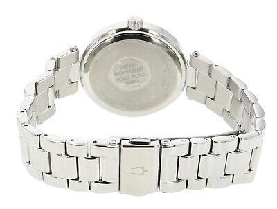 Bulova Women's Quartz 96P151 Crystal Accent Silver-Tone Bracelet 30mm Watch 4