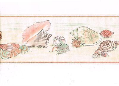 Sea Shell Seashell Pearl Sheen Wallpaper Border Imperial