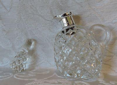 Vinegar Decanter Silver Mounted Cut Glass Birmingham 1935 Jubilee Hallmarks 4