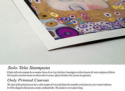 💕 Quadro Klimt Maternità Stampa Fine Art di Pregio su Tela Vernice Pennellate 3