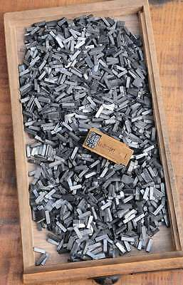 Buchstabensalat BREITE AKZIDENZ GROTESK 16p - 5,5 mm Bleilettern Bleischrift ABC 2