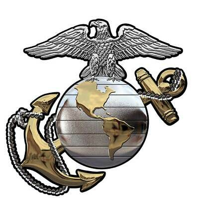 """US Marine CORPS EGA (GOLD and Silver) All Metal Sign 16"""" x 16"""" 2"""