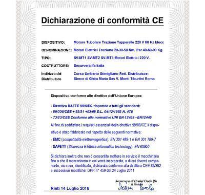 Motori Tapparella Elettrica 220 V 20/30 Nm Serranda Avvolgibile Da 40 Kg E 60 Kg 6