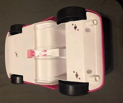 Mattel BARBIE Pink Chevy Convertible Glam Drop Top 2 Seater Car 6