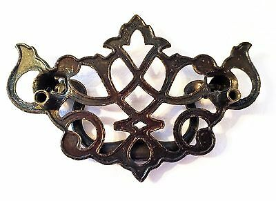 "Antique Hardware Vintage Chippendale Batwing Drawer Pull  3""center 2 1/2""centers"
