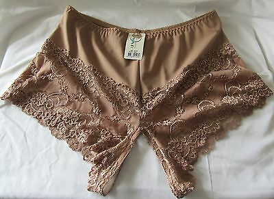 OUVERT Hotpanty Panty Nogart Braun liebes intim Slip Reizwäsche Intim 44 - 46 3