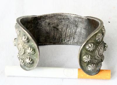 Antique Byzantine Medieval Silver Fertility Folk Art Hand Crafted Bracelet 5