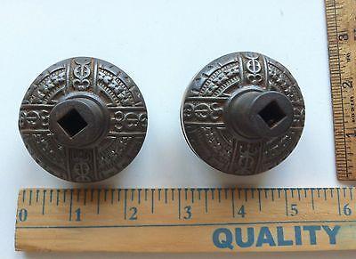 Antique Victorian Era Door Lock Knobs Very Ornate NICE ONES 4