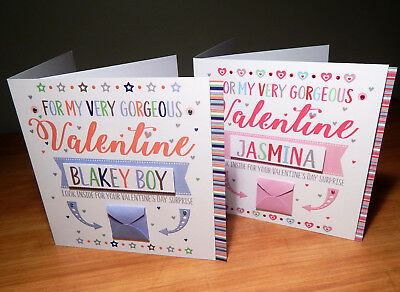 Special Valentine's Day surprise reveal card Personalised Valentine cards 7