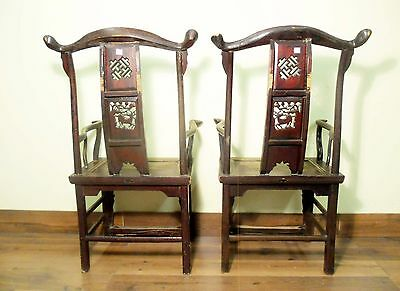 Antique Chinese High Back Arm Chairs (5701), Circa 1800-1849 11