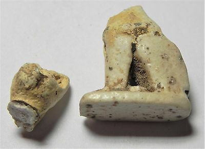 Zurqieh -Af1692- Ancient Egypt, Faience Cat Amulet. 600 - 300 B.c