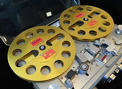 """ONE PAIR   New  7/"""" Aluminum Anodized metal Reel to Reels   SILVER"""