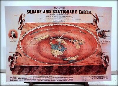 Bundle of 6 Flat Earth Maps & Poster Prints - Gleasons Map etc (350gsm) A3 size 5