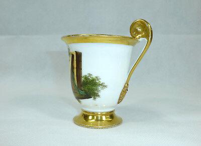 Biedermeier Tasse mit Untertasse um 1850 12