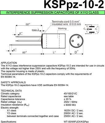 Entstörkondensator Led Miflex 2 10 Funkentstörkondensator Für Ksppz Kondensator YfgbI6vm7y
