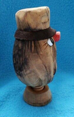 Vintage Black Forest Tyrolean Carved Wooden Screw Nutcracker Wood Nut Cracker 5