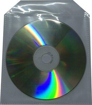 300 x CD/DVD/BLURAY NYLON FOLIE HÜLLEN SLEEVE mit LASCHE HÜLLE BD CASE TASCHE