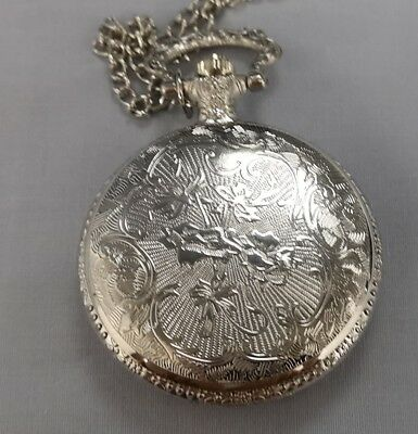 Masonic Silver & Gold Pocket Watch Compass Symbol Unknown Group Temple Lodge UK 4