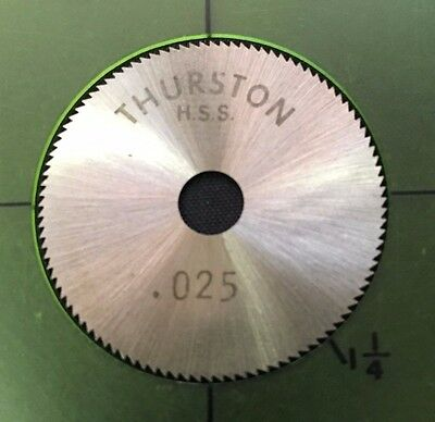 Thurston Jewelry 1 x 0.010 x 3//8 90T Slitting Slotting Saw