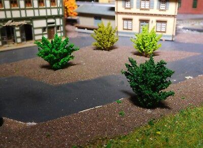 50 Büsche, 40 mm hoch, hellgrün, mittelgrün, dunkelgrün, dunkelgelbgrün 3