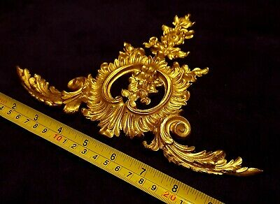 French Antique Louis Xv Gold Gilt Dore Resin Wall Frame Moulding Decoration 2