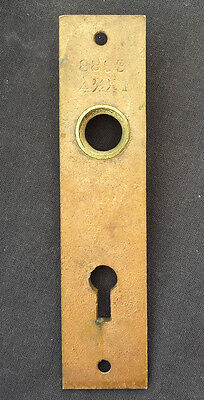 Vintage SOLID Cast Brass Door Knob Doorknob Keyhole Plate Escutcheon Key Cover