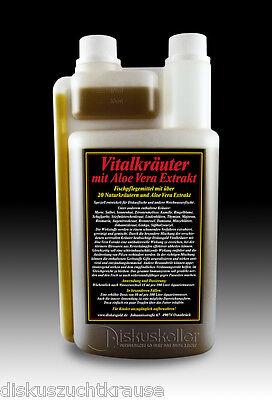 Diskusgold Vitalkräuter mit Aloe Vera, Fischpflegemittel 1000 ml über 20 Kräuter