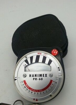 Vintage HANIMEX PR-60 CDS Exposure Light Meter in Good Working Order