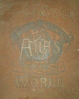 Vintage Circa 1892 UNITED STATES of AMERICA MAP Old Antique Original Atlas Map 4