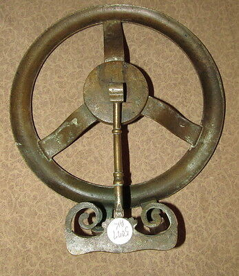 Antique French Bronze Fireplace Hanging Trivet 7