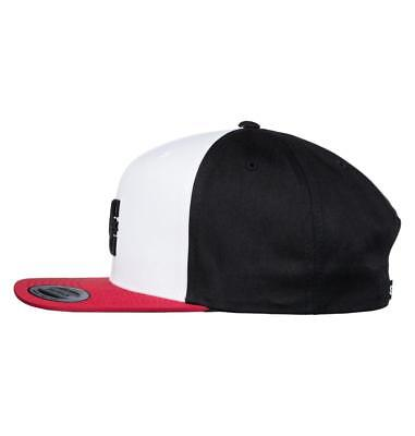 Dc Shoes Mens Baseball Cap.new Snappy Black/Red Flat Peak Snapback Hat 8S 75 Xkk 2