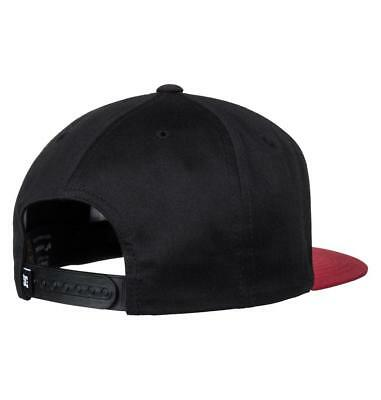 Dc Shoes Mens Baseball Cap.new Snappy Black/red Flat Peak Snapback Hat 8S 75 Xkk 3