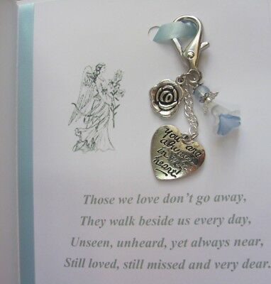 Memory Memorial Keepsake Card Gift Charm Bereavement Loss Remembrance Day Angel 4