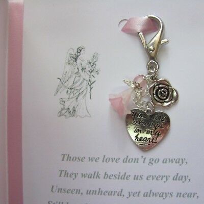 Memory Memorial Keepsake Card Gift Charm Bereavement Loss Remembrance Day Angel 7